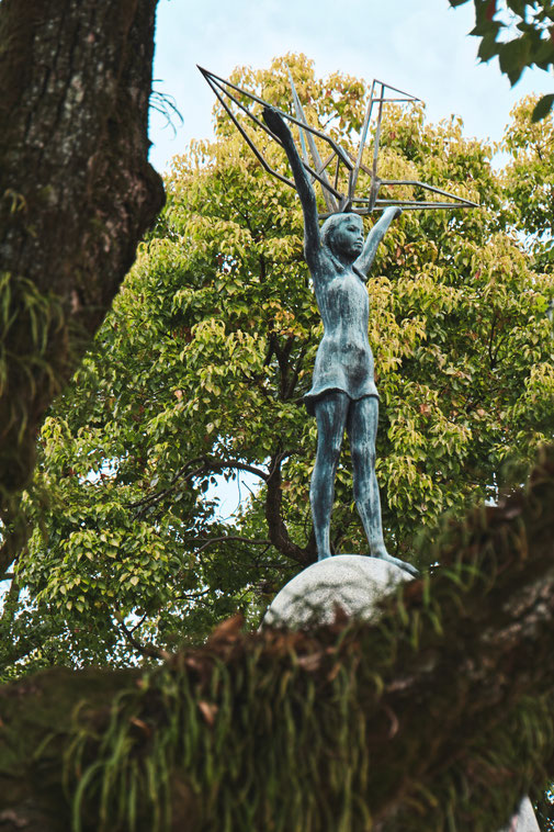 Kinderdenkmal zum Atombombenabwurf in Hiroshima