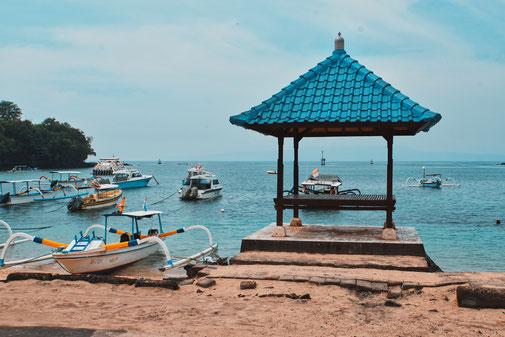 Strandhütte in Padang Bai