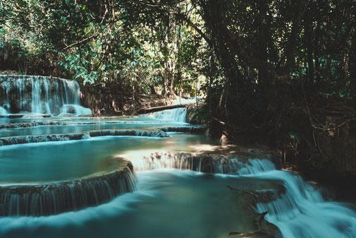 Kuang Si Wasserfälle in Luang Prabang Laos