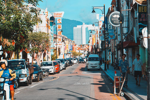 Strasse in Georgetown, Malaysia