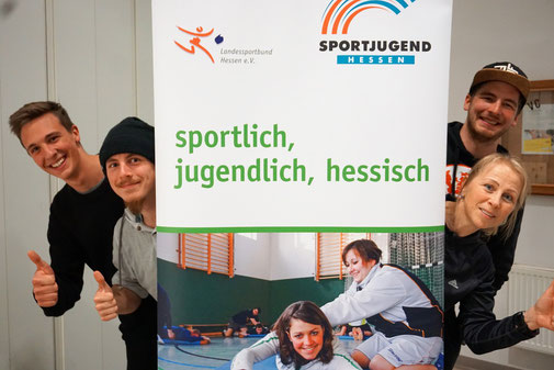 Auf dem Bild v.l.n.r.: Nils Conrad, Keanu Miro-Sanchez, Carsten Krüger, Simone Conrad (Foto: Stefan Bahn)
