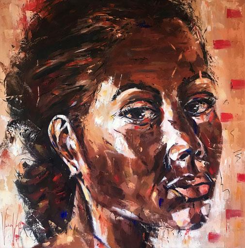 Frauenporträt, Expressionismus, Öl, Original