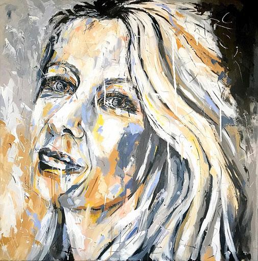 Expressionismus. Frauenporträt, Originalkunst