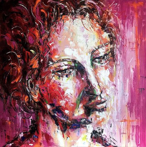 Frauenbild, Porträt, Expressionismus, Ölgemälde