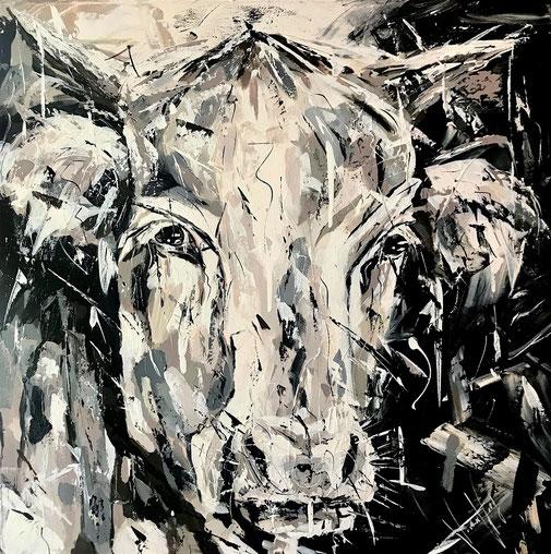 Kuh, Tierporträt, Tieschutz