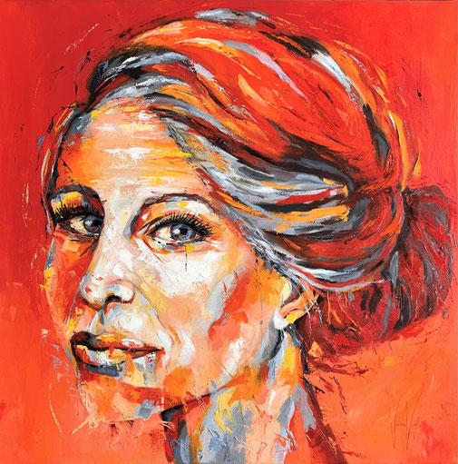 Guiletta, Frauenporträt, Öl, Modern, Expressioismus