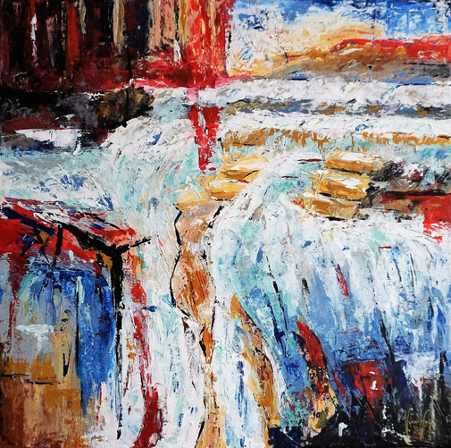 Wasserfall abstrakt