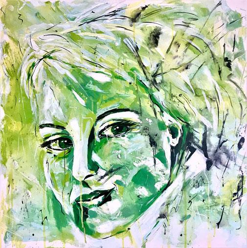 Porträt, Frauenporträt, Originalkunst, Expressionismus