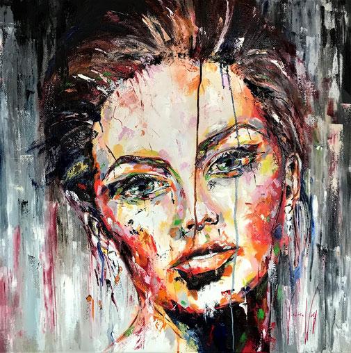 Porträt, Frauenporträt, Ölgemälde