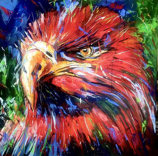 Adler, Raubvogel, Kraft, Expressionismus