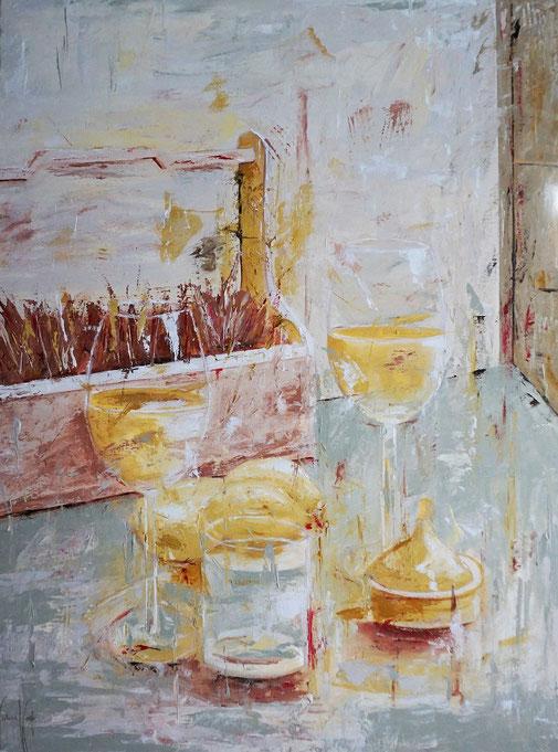 Stilleben, Urlaub, Relax, Moderne Malerei