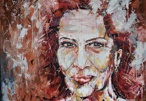 Porträt, Hannelore Elsner, Moderne Malerei, Original