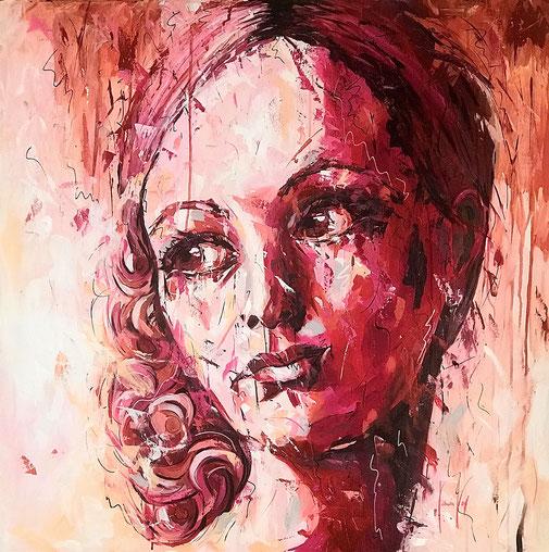 Frauenporträt, Madonna, Expressionismus, Porträt
