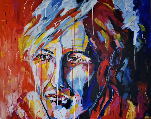 Porträt, Expressionismus, Bunt