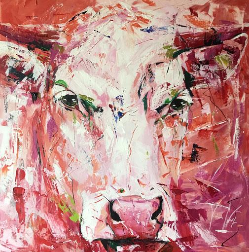 Tiere, Tierporträt, Kuh