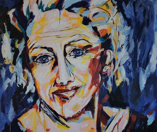 Porträt, Expressionismus, Acryl
