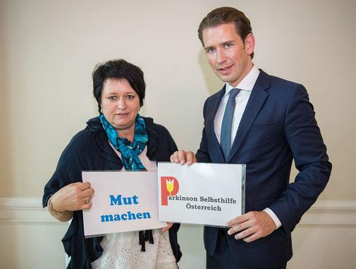Gabi Hafner und Sebastian Kurz