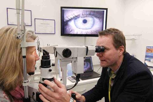 Messung mit der Eye Pix Videospaltlampe