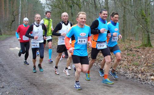 René Weinmann, Olaf Meier und Dirk Müller (von links) beim Teammarathon in Brandenburg.