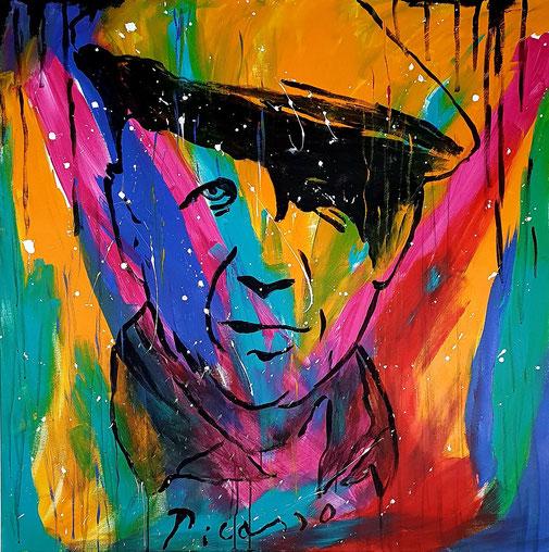 Pablo Picasso, 100x100cm