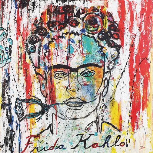 Frida Kahlo,  100x100cm
