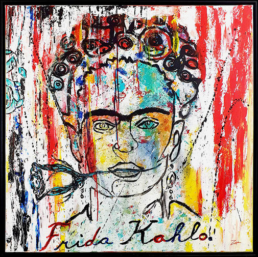 Werk 22, Frida Kahlo,  100x100cm