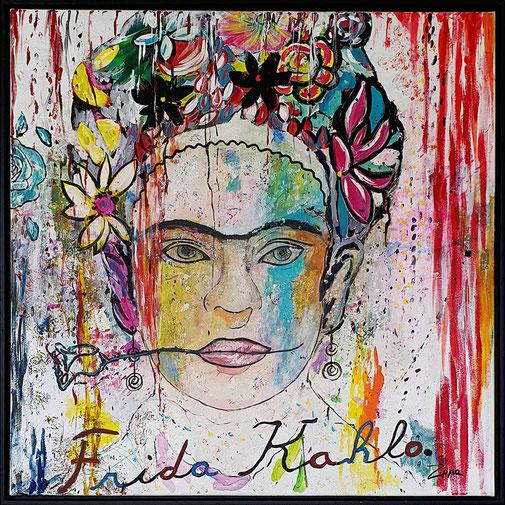 Werk 30, Frida Kahlo, 100x100cm