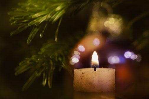 Kerze Licht Weihnachtsbaum leuchtend