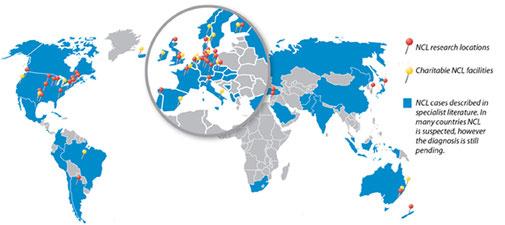 Weltweite NCL-Standorte