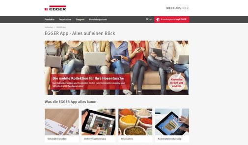 Egger App mit Tischlerei Gränz Innenausbau