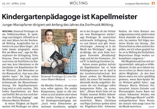 Dorfmusik Wölting, Wöltinger Nachrichten