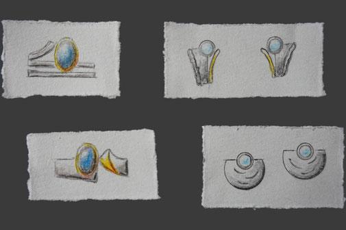 Entwürfe von Schmuckstücken von Schardelmann Schmuck - Schmuckdesign