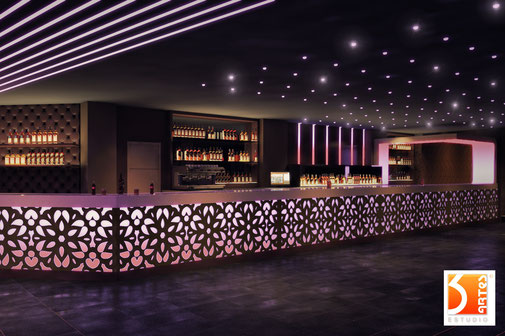 Reformas de bares infografias 3D