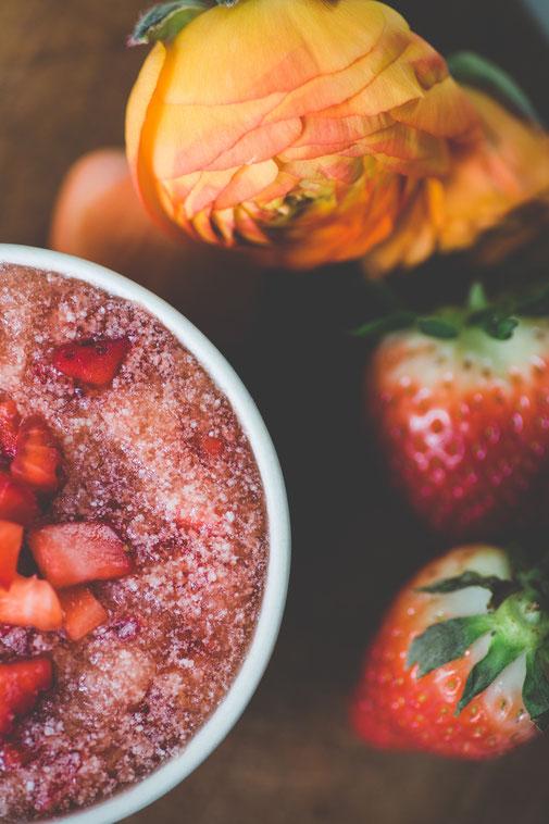 Peeling, Erdbeer, Naturkosmetik, Selbermachen