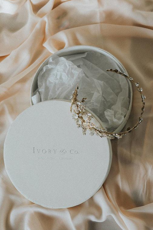 brauthaarschmuck headpiece glamourös elegant