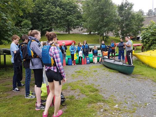 kanutour Lahn Schülertour paddeln