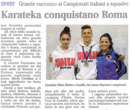 Karateka conquistano Roma