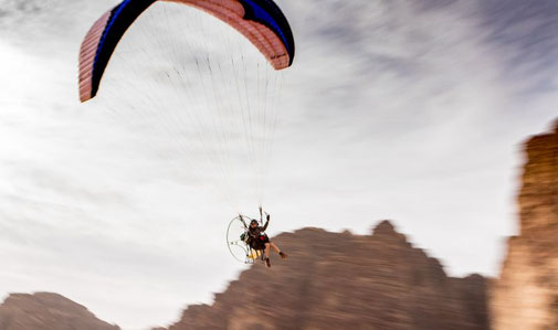Carve flying Jordanien, Wadi Rum