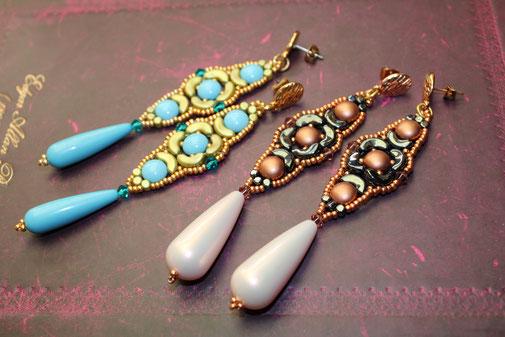 Perlenohrringe Frida Kinari Handmade Jewellery