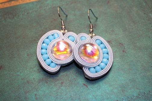 Soutache Schmuck Ohrringe Ophelia by Kinari Handmade Jewellery Statementschmuck Designer