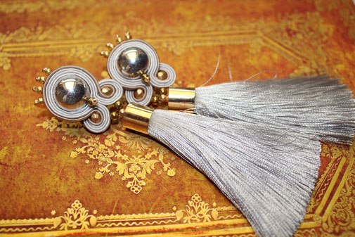 Soutache-Ohrringe Isadora Kinari Handmade Jewellery