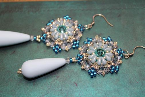 Perlen-Ohrringe Rosaline by Kinari Handmade Jewellery