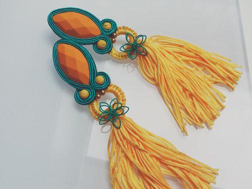 Handmade by Kinari Soutache-Ohrringe Lalitya
