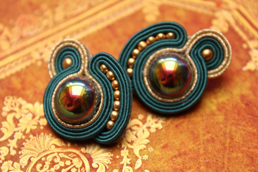 Soutache-Ohrringe Nerea by Kinari Handmade Jewellery