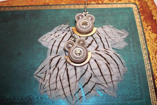 Soutache Schmuck Ohrringe Saja by Kinari Handmade Jewellery Statementschmuck Designer