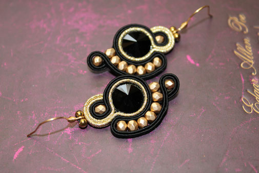 Soutache-Ohrringe Charlene by Kinari Handmande Jewellery