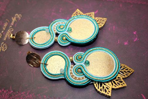 Soutache Schmuck Ohrringe Ariadne by Kinari Handmade Jewellery Statementschmuck Designer