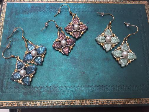Statement-Ohrringe Lilia by Kinari Handmade Jewellery, hangemacht, Desinger Schmuck