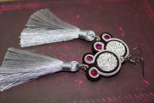 Soutache-Ohrringe Odetta by Kinari Handmade Jewellery