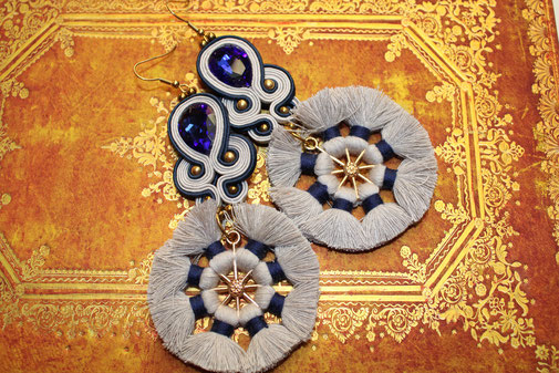 Soutache-Ohrringe Namaka by Kinari Handmade Jewellery